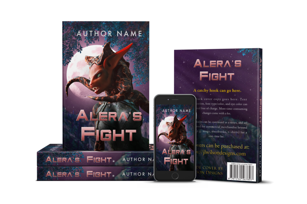 A science fiction book cover featuring an alien warrior on a new planet.