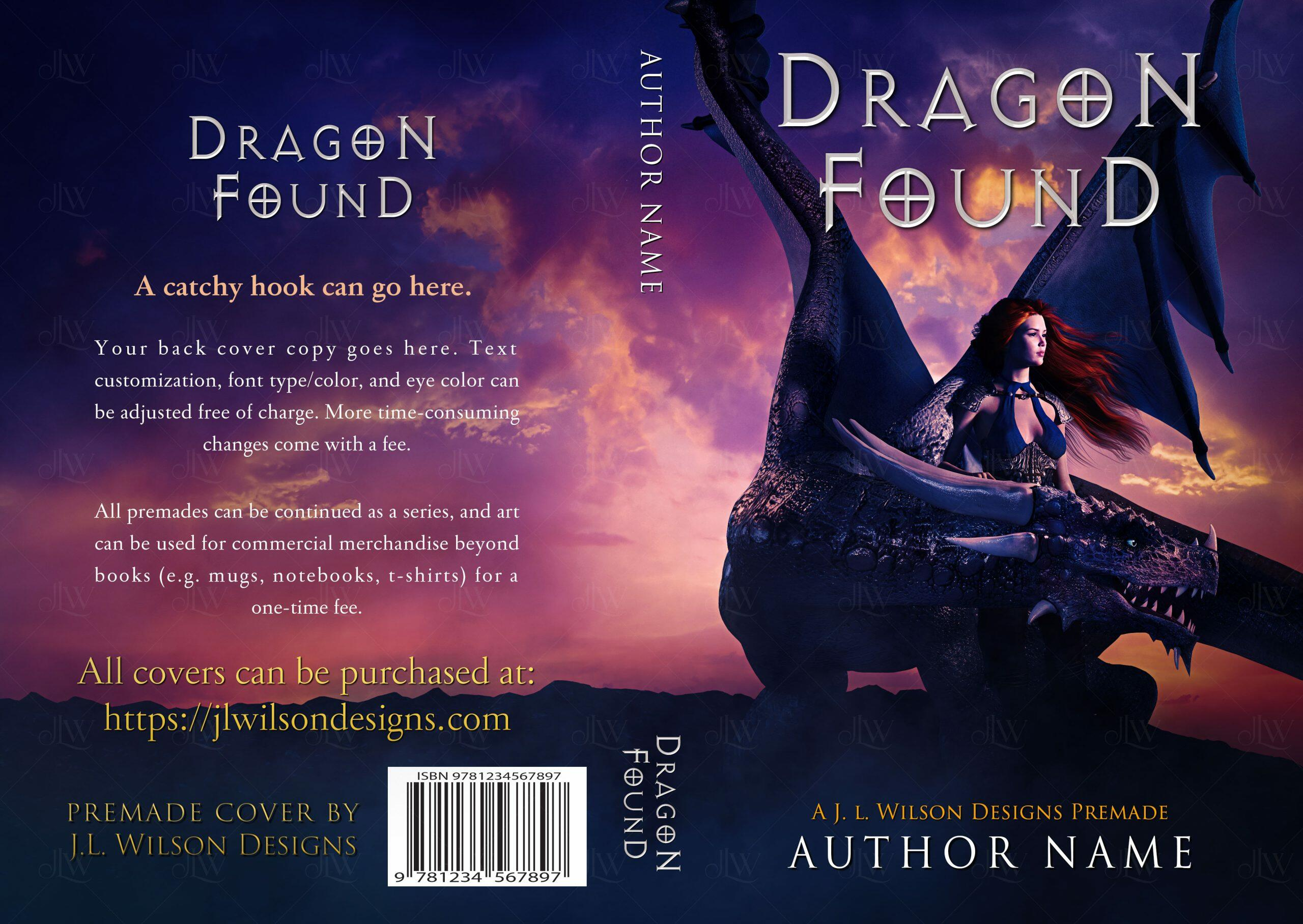 A fantasy book cover with a dragon protecting a beautiful woman on a cliff against a pink and purple sky