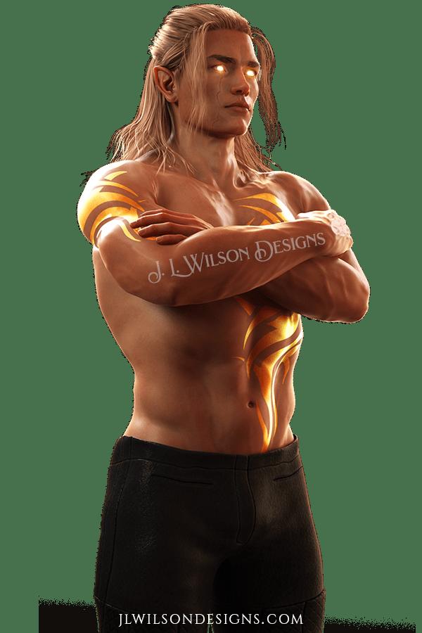 hot guy character art