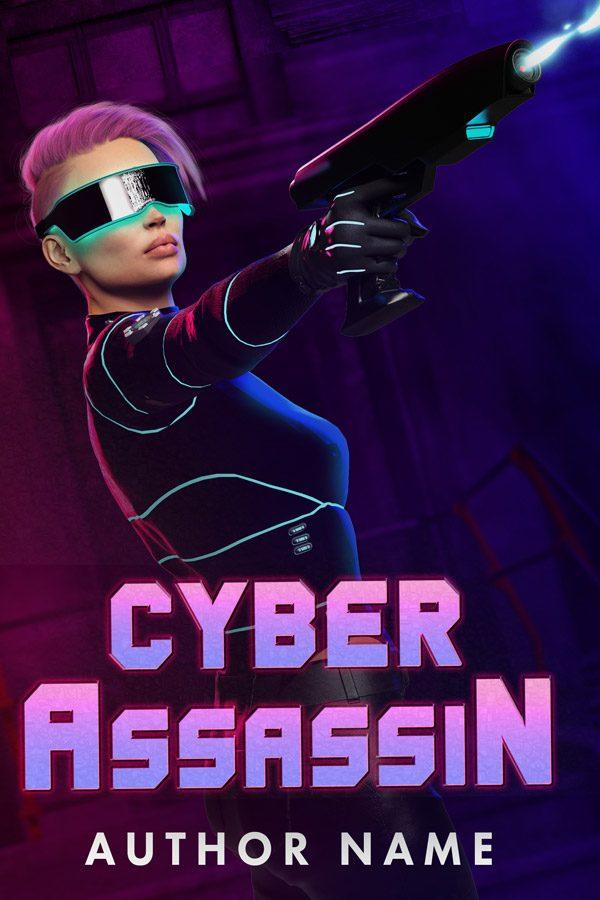 A cyberpunk book cover