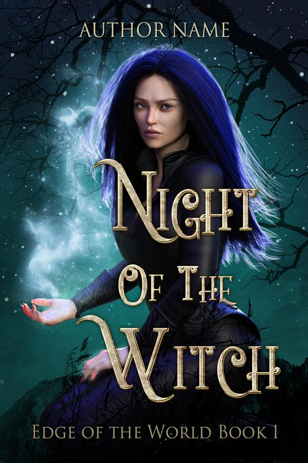 A fantasy witch book cover